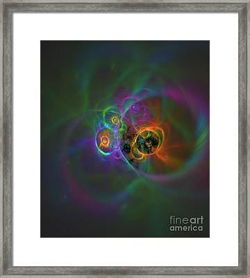 Mirrors Of Space And Time Framed Print