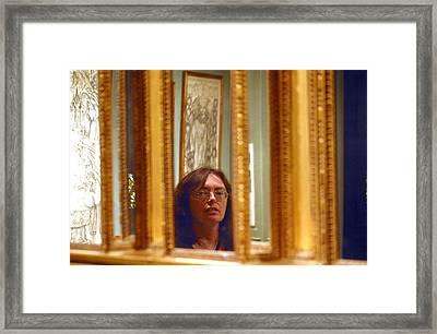 Mirrrored Framed Print by Jez C Self