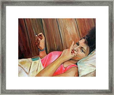 Misbehaved Framed Print by Hilary England