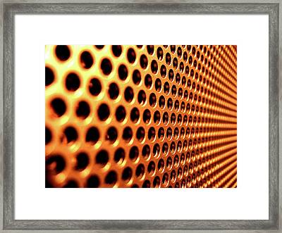 Miscellaneous Meshed Metal                    Framed Print