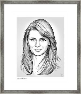 Mischa Barton Framed Print by Greg Joens