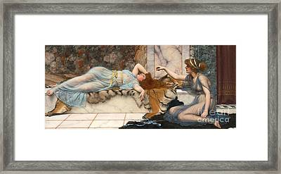 Mischief And Repose 1895 Framed Print
