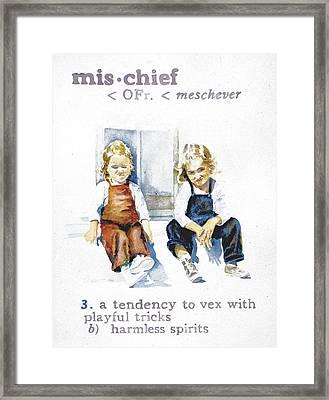 Mischief Framed Print by Janice Crow