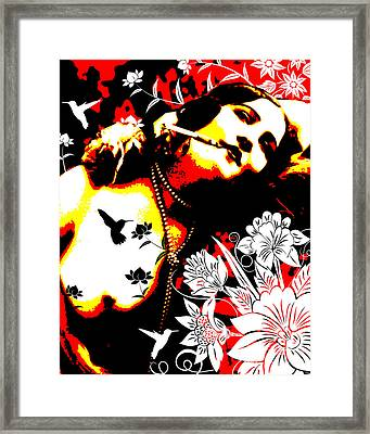 Mischievious Hummingbird Framed Print by Chris Andruskiewicz