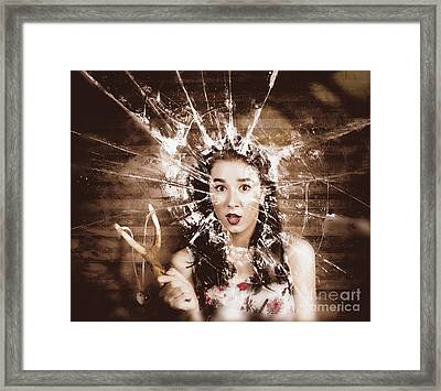 Mischievous Vintage Housewives Framed Print by Jorgo Photography - Wall Art Gallery
