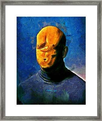 Misfaced Framed Print by Leonardo Digenio