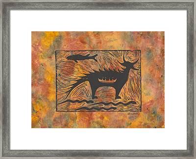 Mishepeshu Framed Print by Ingrid  Schmelter