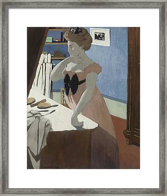 Misia At Her Dressing Table Framed Print