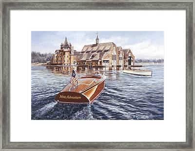 Miss Adventure Framed Print by Richard De Wolfe