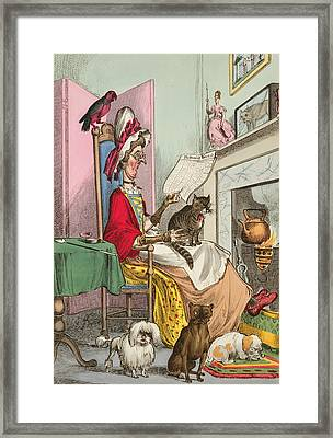 Miss Ann Thropy Framed Print by William Heath
