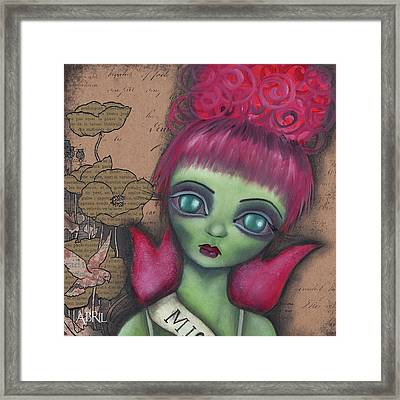 Miss Argentina Framed Print by Abril Andrade Griffith