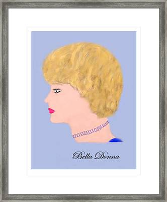 Miss Bella Donna Framed Print by Jerry White