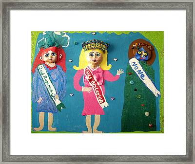 Miss Bo Leg Usa Framed Print by Betty  Roberts