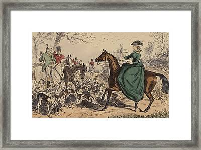 Miss De Glancey Captivates The Earl Framed Print