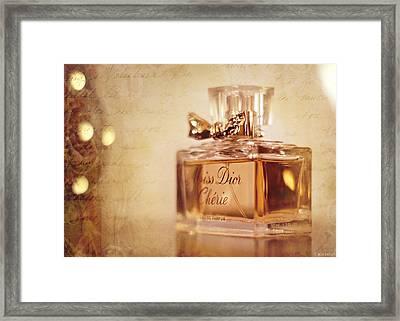 Miss Dior Framed Print by Susan Bordelon