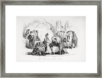 Miss Dorrit And Little Dorrit Framed Print by Vintage Design Pics