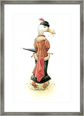 Miss Duck Framed Print by Kestutis Kasparavicius