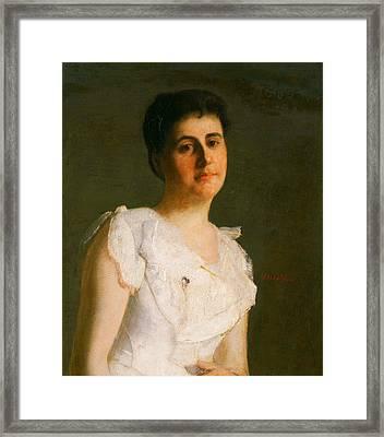 Miss Edith Potter Framed Print by Julian Alden Weir