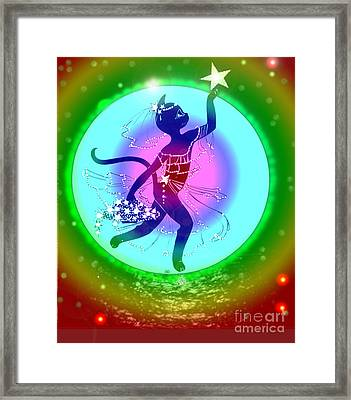 Miss Fifi Star Collecting Framed Print by Silvia  Duran