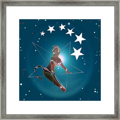 Miss Fifiswinging On A Star Framed Print by Silvia  Duran