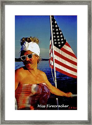 Miss Firecracker Framed Print by Michael Durst