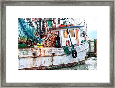 Miss Hale Shrimp Boat - Side Framed Print