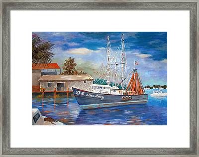 Framed Print featuring the painting Miss Lexy by Tony Caviston