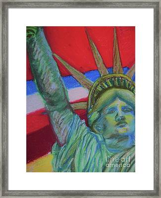 Miss Liberty Framed Print by Emily Michaud