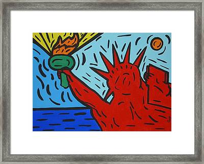 Miss Liberty Framed Print by Paolo Santo