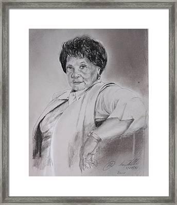 Miss Lilly Framed Print