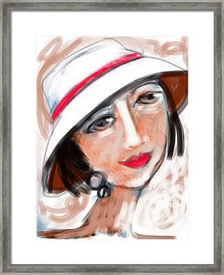 Miss Mary Framed Print by Elaine Lanoue