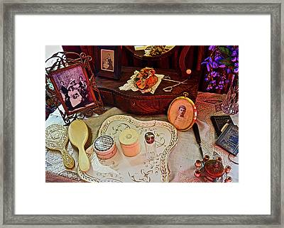 Miss Mary's Table. Framed Print