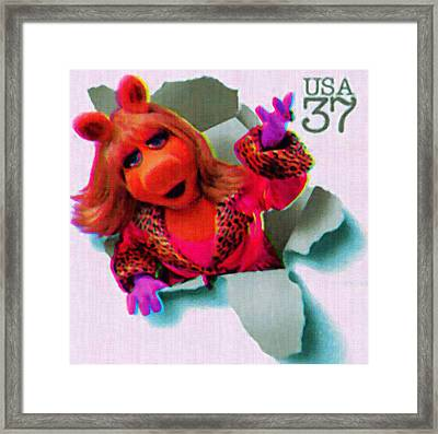 Miss Piggy Framed Print by Lanjee Chee