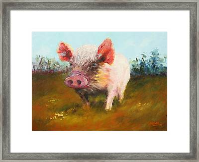 Miss Piggy Framed Print by Marie Green