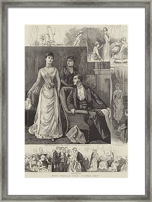 Miss Prissie Pink Comes Out Framed Print by English School