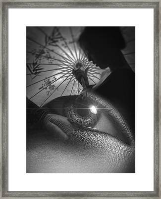 Miss Saigon Black Framed Print by ISAW Gallery
