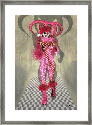Miss Scarlet Framed Print by Quim Abella