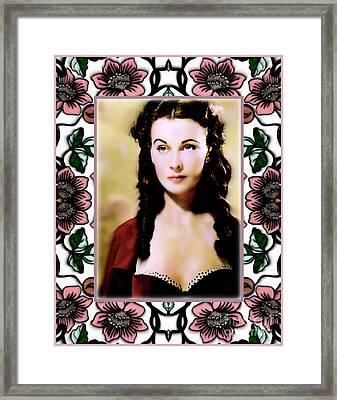 Miss Scarlet Framed Print
