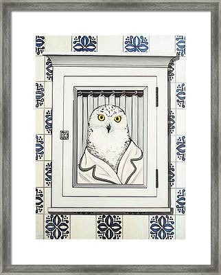 Miss Snow Framed Print
