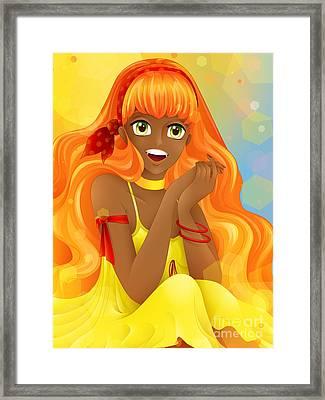 Miss Summer-sun Framed Print by Sandra Hoefer