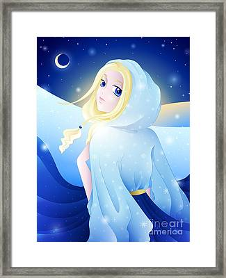 Miss Winter-night Framed Print by Sandra Hoefer