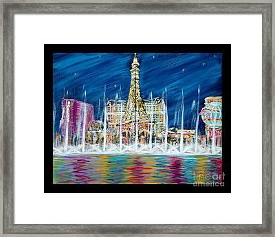 Miss You Las Vegas. Beautiful City View Framed Print