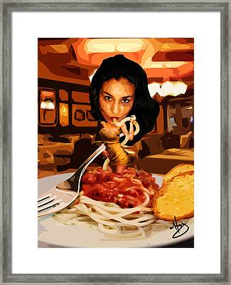 Missghetti Framed Print by Moxxy Simmons