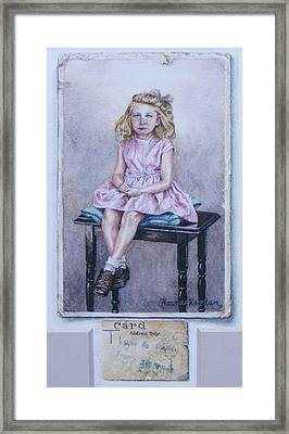 Missing Daddy, Devonshire 1940 Framed Print