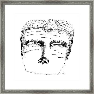 Missing Mouth Framed Print