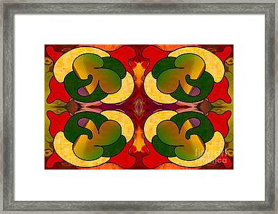 Missing Pieces Abstract Art By Omashte Framed Print by Omaste Witkowski
