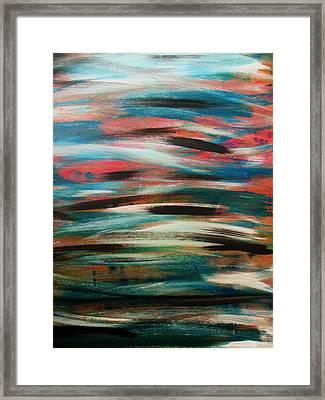 Missing Strokes Framed Print