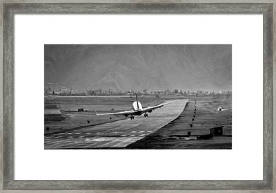 Missing The Runway Framed Print