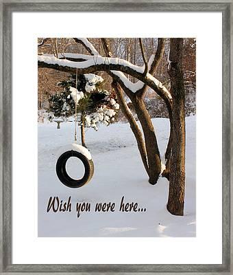 Missing You Framed Print by Kristin Elmquist