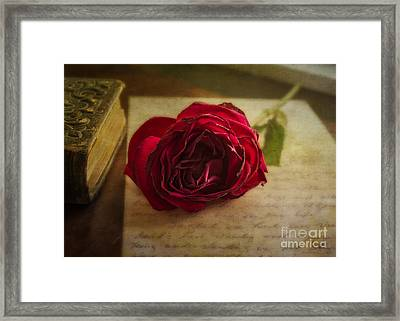 Framed Print featuring the mixed media Missing You by Terry Rowe